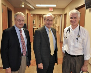 From left, Dr. Jerry Kennett, Dr. Jeremy Lazarus and Dr. Brian Johnson.