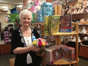 Volunteer Mary Lou Raitt works in the Boone Hospital gift shop on Tuesday afternoons.