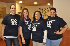 Boone employees wear Team Nicolle shirts in support of Nicolle's cancer fight.
