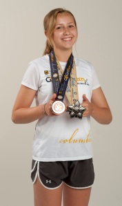 2013 Kids on Track participant Abby Hinshaw, 13, Smithton Middle School.